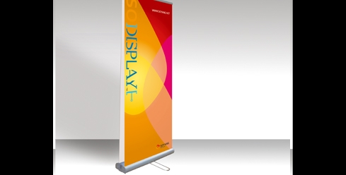 Banner stand display: 2 sides-image